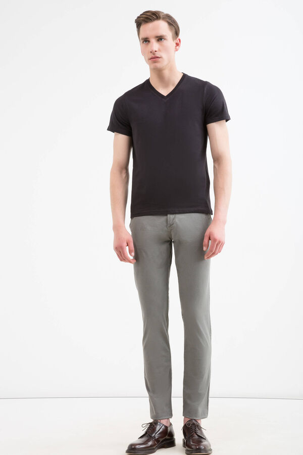 Regular-fit chino trousers in cotton twill | OVS