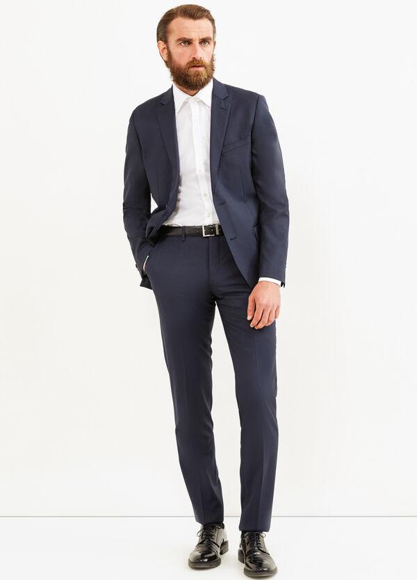 Slim-fit, solid colour elegant suit in wool   OVS