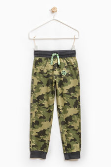 Camouflage joggers with pouch pocket, Army Green, hi-res