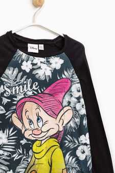 T-shirt maxi stampa I Sette Nani, Nero, hi-res