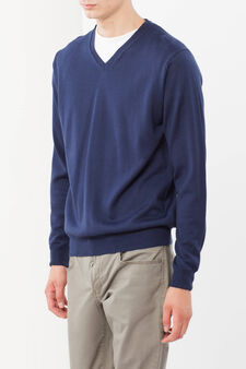 Pullover in wool blend, Blue, hi-res