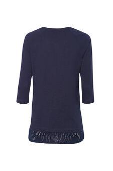 Smart Basic T-shirt in 100% cotton, Navy Blue, hi-res