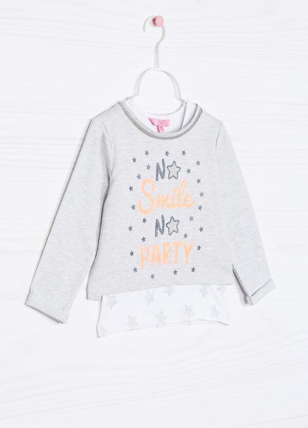 Cotton blend top and sweatshirt set | OVS