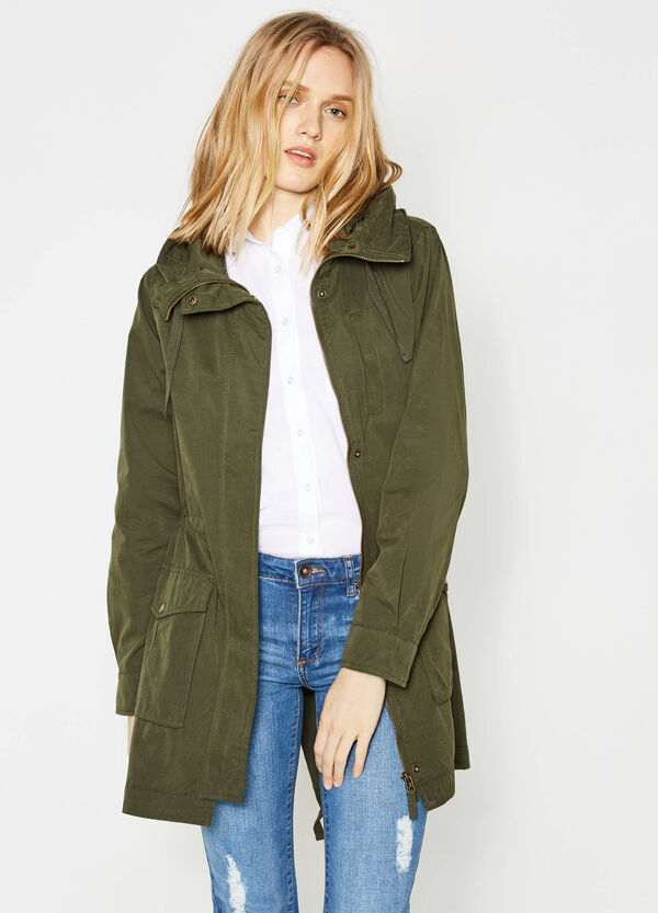 Cotton blend parka with hood | OVS
