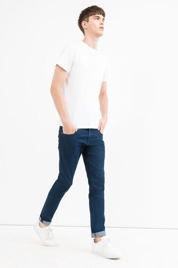Solid colour, slim-fit stretch jeans, Denim, hi-res