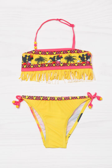 Bikini stretch con frange fantasia