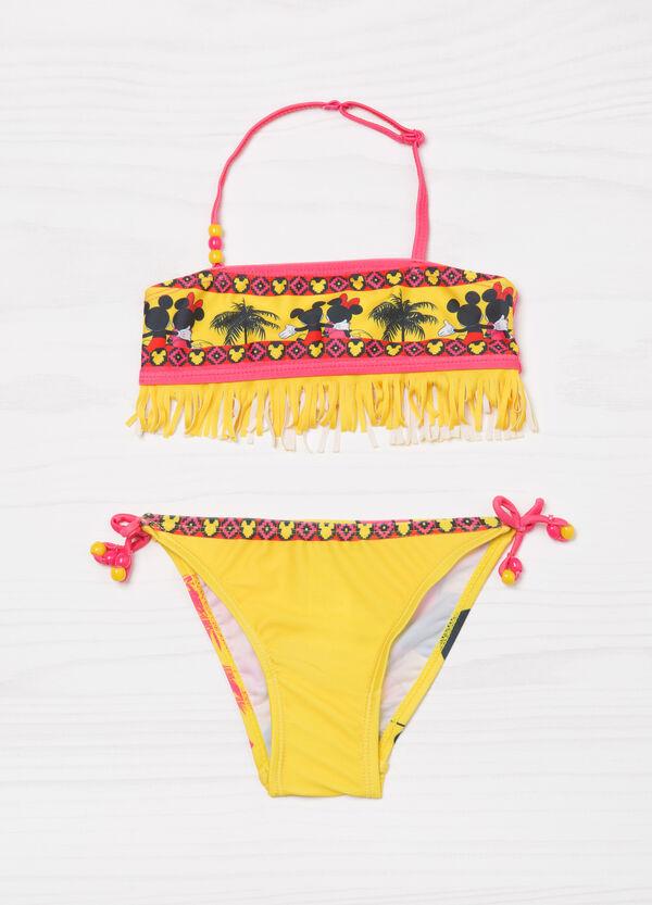 Bikini stretch con frange fantasia | OVS