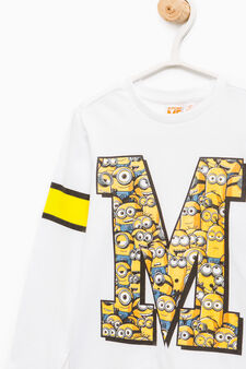 100% cotton T-shirt with Minions print, Off-white, hi-res
