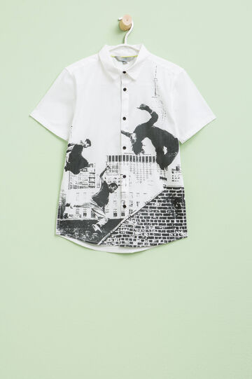 Cotton shirt with print