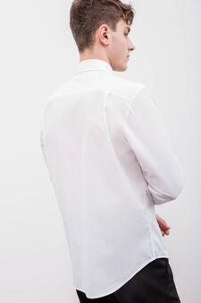 Regular-fit cotton formal shirt, White, hi-res
