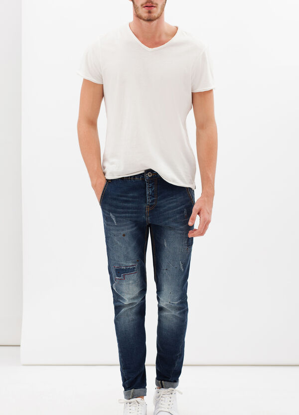 Marked-effect stretch jeans | OVS