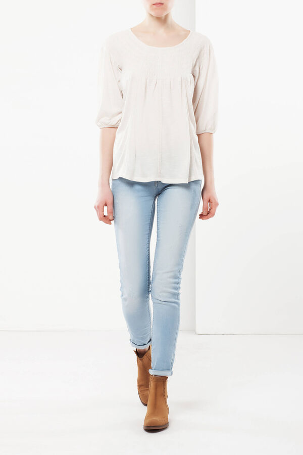T-shirt con scollatura arricciata | OVS