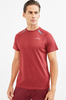 OVS Active Sport Training T-shirt, Claret Red, hi-res