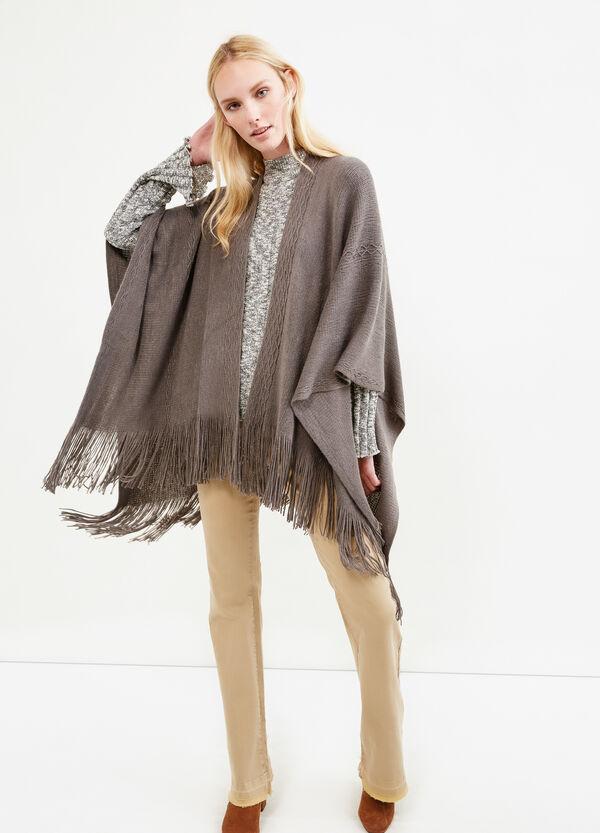 Poncho tricot con frange | OVS