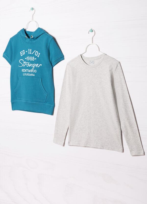 Completo felpa e t-shirt puro cotone | OVS