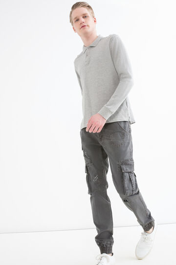 Stretch cotton cargo pants