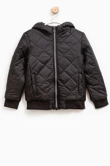 Hooded jacket, Black, hi-res