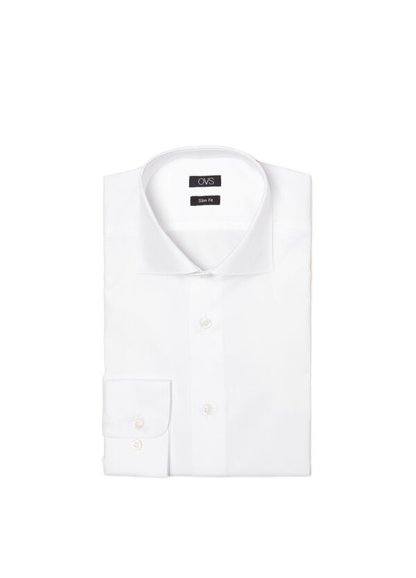 Slim-fit shirt with cut-away collar | OVS