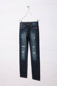 Jeans effetto used, Lavaggio medio, hi-res