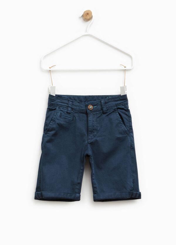 Stretch cotton chino Bermuda shorts | OVS
