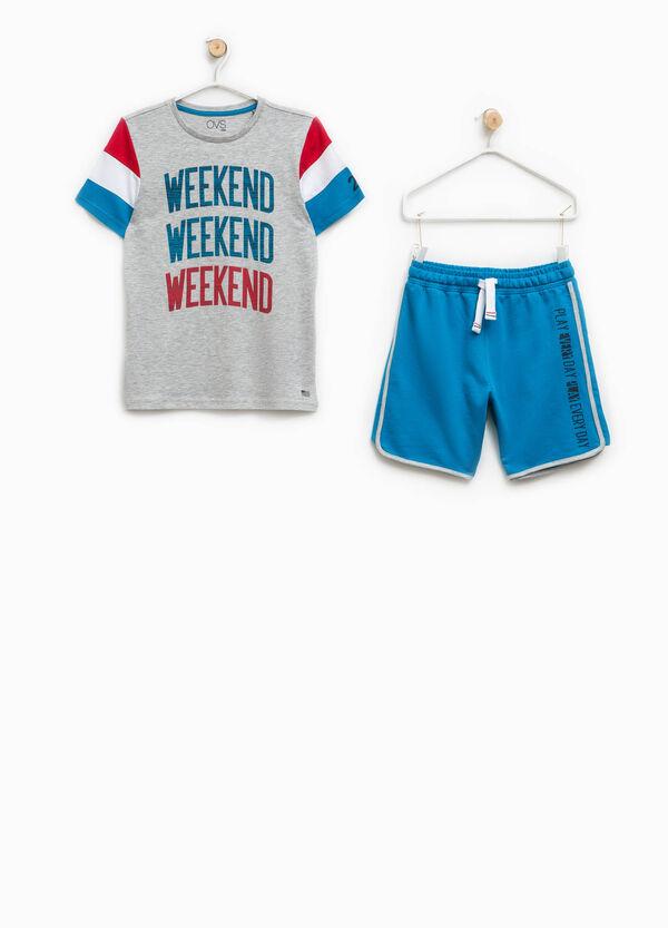 T-shirt and Bermuda shorts set   OVS
