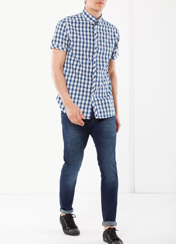 Camicia indigo a maniche corte | OVS