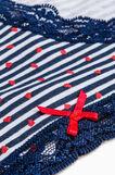 Striped briefs in stretch cotton, White/Blue, hi-res