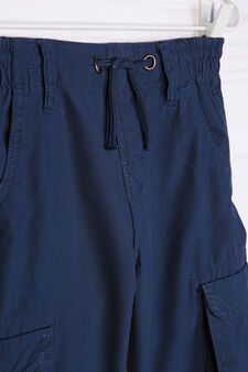 Bermuda shorts in 100% cotton, Navy Blue, hi-res