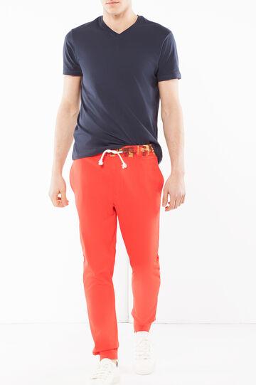 Pantaloni in felpa, Rosso, hi-res