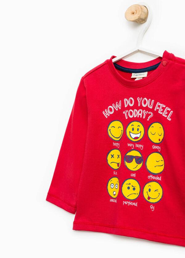 Printed long-sleeved T-shirt | OVS