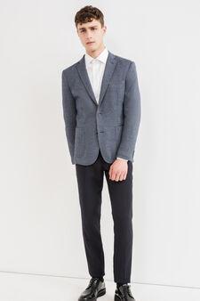Cotton blend, two-button blazer, Grey, hi-res