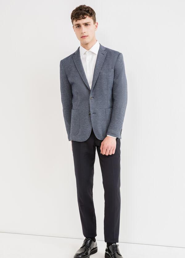 Cotton blend, two-button blazer | OVS