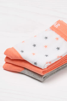 Three-pack printed socks, Multicolour, hi-res