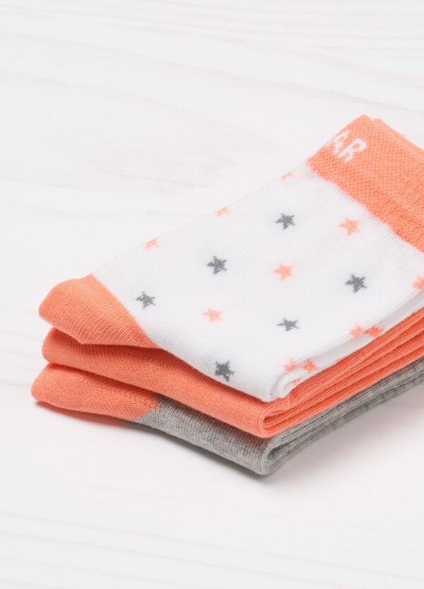 Three-pack printed socks   OVS