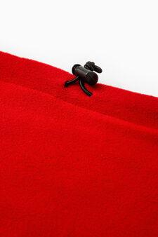 Scaldacollo coulisse tinta unita, Rosso, hi-res