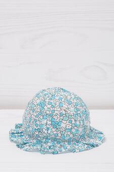Patterned fishing hat, Blue, hi-res