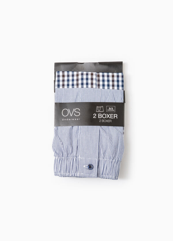 Two-pack patterned boxer shorts in 100% cotton | OVS