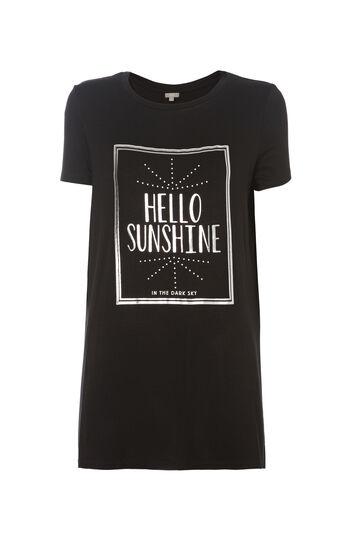 T-shirt lunga viscosa Smart Basic, Nero, hi-res