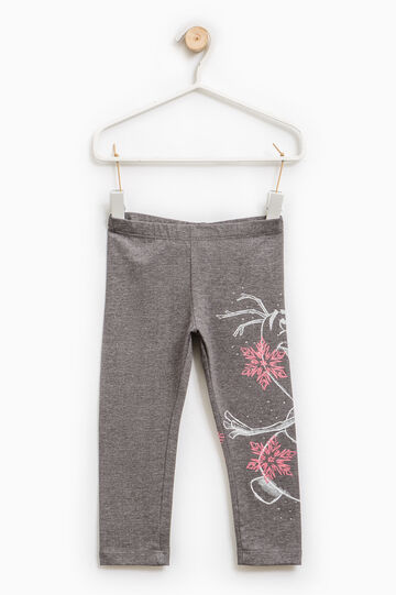 Stretch leggings with Frozen print, Dark Grey, hi-res