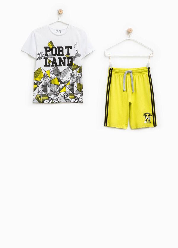 Printed T-shirt and Bermuda shorts set   OVS