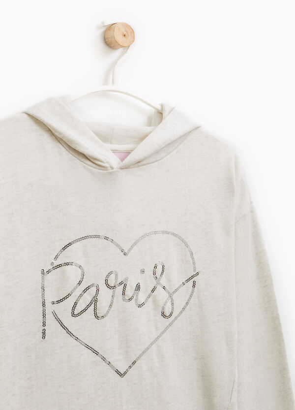 Hoodie with sequins | OVS