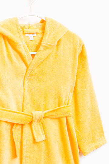 Solid colour 100% cotton robe, Orange, hi-res