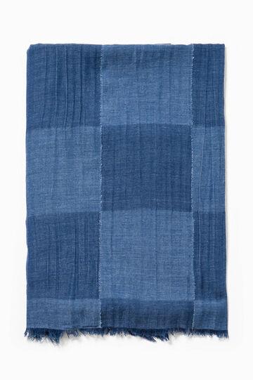 Check pattern scarf, Blue/Light Blue, hi-res