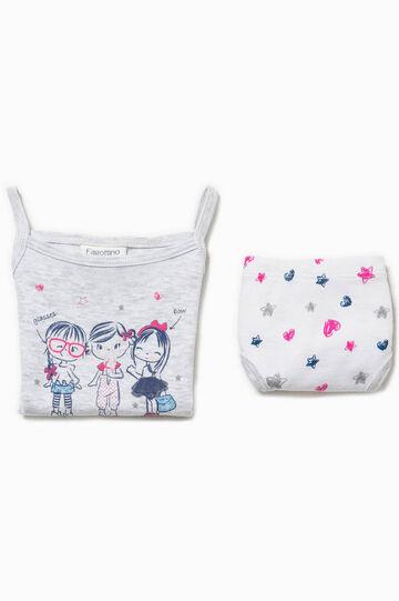 Cotton underwear top and briefs set