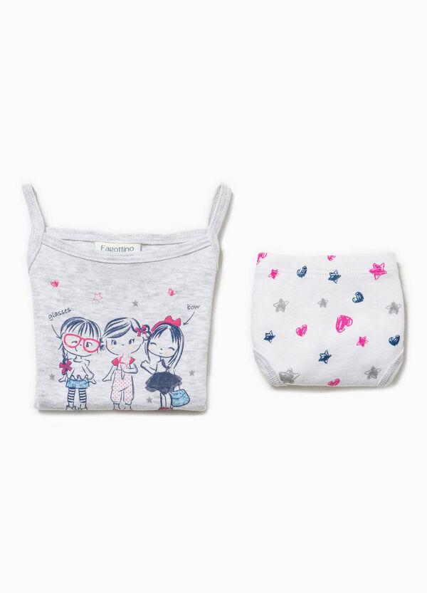 Cotton underwear top and briefs set | OVS