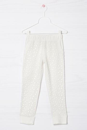 Pantaloni cotone traforati