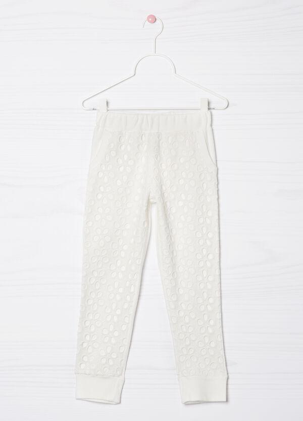 Pantaloni cotone traforati | OVS