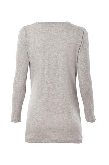 Smart Basic T-shirt in 100% cotton, Grey Marl, hi-res