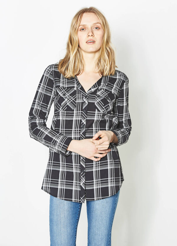 Checked shirt with hood | OVS