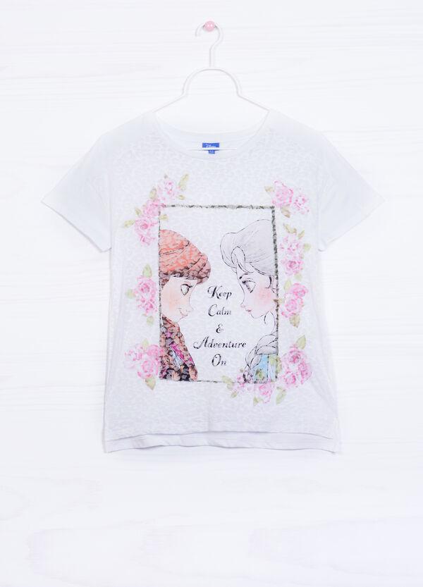 Cotton blend T-shirt with Frozen print | OVS